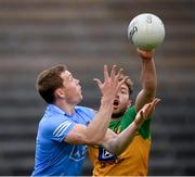 12 June 2021; Con O'Callaghan of Dublin in action against Stephen McMenamin of Donegal during the Allianz Football League Division 1 semi-final match between Donegal and Dublin at Kingspan Breffni Park in Cavan. Photo by Stephen McCarthy/Sportsfile