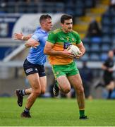 12 June 2021; Caolan McGonagle of Donegal in action against Brian Howard of Dublin during the Allianz Football League Division 1 semi-final match between Donegal and Dublin at Kingspan Breffni Park in Cavan. Photo by Ray McManus/Sportsfile
