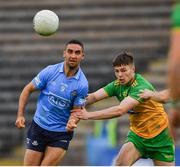 12 June 2021; James McCarthy of Dublin in action against Conor O'Donnell of Donegal during the Allianz Football League Division 1 semi-final match between Donegal and Dublin at Kingspan Breffni Park in Cavan. Photo by Ray McManus/Sportsfile