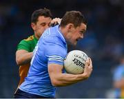 12 June 2021; Con O'Callaghan of Dublin in action against Eoin McHugh of Donegal during the Allianz Football League Division 1 semi-final match between Donegal and Dublin at Kingspan Breffni Park in Cavan. Photo by Ray McManus/Sportsfile
