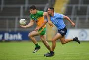 12 June 2021; Caolan McGonagle of Donegal in action against James McCarthy of Dublin during the Allianz Football League Division 1 semi-final match between Donegal and Dublin at Kingspan Breffni Park in Cavan. Photo by Stephen McCarthy/Sportsfile