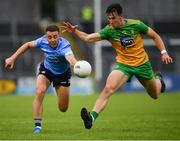 12 June 2021; Cormac Costello of Dublin in action against Michael Langan of Donegal during the Allianz Football League Division 1 semi-final match between Donegal and Dublin at Kingspan Breffni Park in Cavan. Photo by Ray McManus/Sportsfile