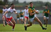 12 June 2021; David Clifford of Kerry in action against Ronan McNamee of Tyrone during the Allianz Football League Division 1 semi-final match between Kerry and Tyrone at Fitzgerald Stadium in Killarney, Kerry. Photo by Brendan Moran/Sportsfile
