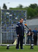 13 June 2021; Clare manager Colm Collins is interviewed before before the Allianz Football League Division 2 semi-final match between Clare and Mayo at Cusack Park in Ennis, Clare. Photo by Brendan Moran/Sportsfile