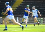 13 June 2021; Noel McGrath of Tipperary shoots to score his side's second goal despite the attention of Ian Kenny of Waterford during the Allianz Hurling League Division 1 Group A Round 5 match between Waterford and Tipperary at Walsh Park in Waterford. Photo by Stephen McCarthy/Sportsfile