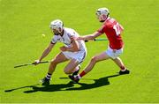 13 June 2021; Darren Morrissey of Galway in action against Shane Barrett of Cork during the Allianz Hurling League Division 1 Group A Round 5 match between Cork and Galway at Páirc Ui Chaoimh in Cork. Photo by Eóin Noonan/Sportsfile