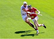 13 June 2021; Jake O'Connor of Cork breaks the tackle of Gearoid McInerney of Galway on his way to scoring his side's second goal during the Allianz Hurling League Division 1 Group A Round 5 match between Cork and Galway at Páirc Ui Chaoimh in Cork. Photo by Eóin Noonan/Sportsfile