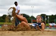 13 June 2021; Kate Hosey of Corran AC, Cavan, competing in the Senior Women's Long Jump during day two of the AAI Games & Combined Events Championships at Morton Stadium in Santry, Dublin. Photo by Sam Barnes/Sportsfile