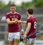 13 June 2021; Tommy Doyle, left, and Cormac Boyle of Westmeath following thier side's defeat to Limerick in the Allianz Hurling League Division 1 Group A Round 5 match at TEG Cusack Park in Mullingar, Westmeath. Photo by Seb Daly/Sportsfile