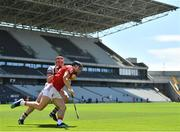 13 June 2021; Mark Coleman of Cork is tackled by Conor Whelan of Galway during the Allianz Hurling League Division 1 Group A Round 5 match between Cork and Galway at Páirc Ui Chaoimh in Cork. Photo by Eóin Noonan/Sportsfile