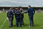 13 June 2021; Clare manager Colm Collins speaks to journalists after the Allianz Football League Division 2 semi-final match between Clare and Mayo at Cusack Park in Ennis, Clare. Photo by Brendan Moran/Sportsfile