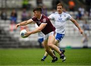 13 June 2021; Shane Walsh of Galway in action against Kieran Duffy of Monaghan during the Allianz Football League Division 1 Relegation play-off match between Monaghan and Galway at St. Tiernach's Park in Clones, Monaghan. Photo by Philip Fitzpatrick/Sportsfile
