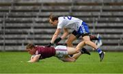 13 June 2021; Jack Glynn of Galway in action against Jack McCarron of Monaghan during the Allianz Football League Division 1 Relegation play-off match between Monaghan and Galway at St. Tiernach's Park in Clones, Monaghan. Photo by Ray McManus/Sportsfile