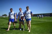 13 June 2021; Waterford players, from left, Conor Gleeson, Ian Kenny and Austin Gleeson following the Allianz Hurling League Division 1 Group A Round 5 match between Waterford and Tipperary at Walsh Park in Waterford. Photo by Stephen McCarthy/Sportsfile