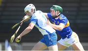 13 June 2021; Shane Bennett of Waterford in action against Cathal Barrett of Tipperary during the Allianz Hurling League Division 1 Group A Round 5 match between Waterford and Tipperary at Walsh Park in Waterford. Photo by Stephen McCarthy/Sportsfile
