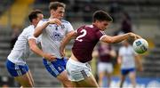 13 June 2021; Seán Kelly of Galway in action against Niall Kearns, 8, and Ryan Wylie of Monaghan during the Allianz Football League Division 1 Relegation play-off match between Monaghan and Galway at St. Tiernach's Park in Clones, Monaghan. Photo by Ray McManus/Sportsfile