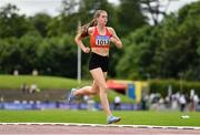 13 June 2021; Louise King of St. Colmans South Mayo AC competing in the 800m event of the Senior Heptathlon during day two of the AAI Games & Combined Events Championships at Morton Stadium in Santry, Dublin. Photo by Sam Barnes/Sportsfile