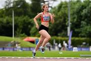 13 June 2021; Molly Curran of Carmen Runners AC competing in the 800m event of the Junior Heptathlon during day two of the AAI Games & Combined Events Championships at Morton Stadium in Santry, Dublin. Photo by Sam Barnes/Sportsfile