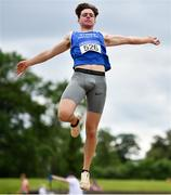 13 June 2021; Luke O'Carroll of Tralee Harriers AC, Kerry, competing in the Senior Men's Long Jump during day two of the AAI Games & Combined Events Championships at Morton Stadium in Santry, Dublin. Photo by Sam Barnes/Sportsfile