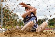 13 June 2021; Eoin Keenan of Emo/Rath AC competing in the Senior Men's Long Jump during day two of the AAI Games & Combined Events Championships at Morton Stadium in Santry, Dublin. Photo by Sam Barnes/Sportsfile