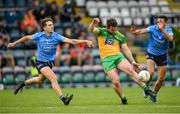 12 June 2021; Patrick McBrearty of Donegal in action against Michael Fitzsimons, left, and Niall Scully of Dublin during the Allianz Football League Division 1 semi-final match between Donegal and Dublin at Kingspan Breffni Park in Cavan. Photo by Stephen McCarthy/Sportsfile