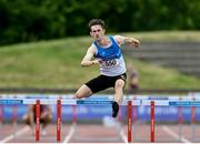 13 June 2021; Jack Mitchell of St Laurence O'Toole AC, Carlow, competing in the Senior Men's 400m Hurdles during day two of the AAI Games & Combined Events Championships at Morton Stadium in Santry, Dublin. Photo by Sam Barnes/Sportsfile