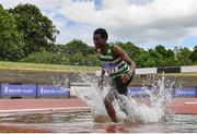 13 June 2021; Abaas Adam Edris of Castlegar AC, Galway, competing in the Senior Men's 3000m Steeplechase during day two of the AAI Games & Combined Events Championships at Morton Stadium in Santry, Dublin. Photo by Sam Barnes/Sportsfile