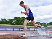 13 June 2021; Mathew Molloy of Tullamore Harriers AC, Offaly, competing in the Senior Men's 3000m Steeplechase during day two of the AAI Games & Combined Events Championships at Morton Stadium in Santry, Dublin. Photo by Sam Barnes/Sportsfile