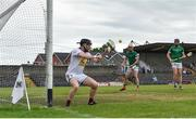 13 June 2021; Noel Conaty of Westmeath makes a save during the Allianz Hurling League Division 1 Group A Round 5 match between Westmeath and Limerick at TEG Cusack Park in Mullingar, Westmeath. Photo by Seb Daly/Sportsfile