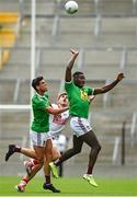 12 June 2021; Ian Maguire of Cork in action against Denis Corroon, left, and Fola Ayorinde of Westmeath during the Allianz Football League Division 2 Relegation play-off match between Cork and Westmeath at Páirc Uí Chaoimh in Cork. Photo by Eóin Noonan/Sportsfile