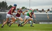 13 June 2021; Barry Hennessy of Limerick in action against Westmeath players, form left, Tommy Doyle, Alan Cox and Darragh Egerton during the Allianz Hurling League Division 1 Group A Round 5 match between Westmeath and Limerick at TEG Cusack Park in Mullingar, Westmeath. Photo by Seb Daly/Sportsfile