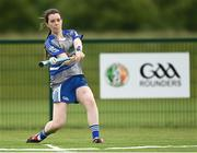 13 June 2021; Helen Gallagher of Breaffy  bats during the Ladies Senior Rounders Final 2020 match between Breaffy and Glynn Barntown at GAA centre of Excellence, National Sports Campus in Abbotstown, Dublin. Photo by Harry Murphy/Sportsfile