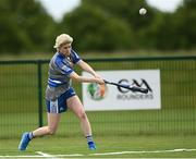 13 June 2021; Olivia Tolster of Breaffy bats during the Ladies Senior Rounders Final 2020 match between Breaffy and Glynn Barntown at GAA centre of Excellence, National Sports Campus in Abbotstown, Dublin. Photo by Harry Murphy/Sportsfile