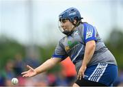 13 June 2021; Michell Hopkins of Breaffy bowls during the Ladies Senior Rounders Final 2020 match between Breaffy and Glynn Barntown at GAA centre of Excellence, National Sports Campus in Abbotstown, Dublin. Photo by Harry Murphy/Sportsfile