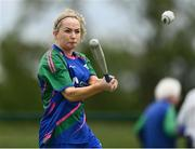 13 June 2021; Anne Hanley of Glynn Barntown bats during the Ladies Senior Rounders Final 2020 match between Breaffy and Glynn Barntown at GAA centre of Excellence, National Sports Campus in Abbotstown, Dublin. Photo by Harry Murphy/Sportsfile