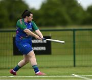13 June 2021; Amanda Howlin of Glynn Barntown bats during the Ladies Senior Rounders Final 2020 match between Breaffy and Glynn Barntown at GAA centre of Excellence, National Sports Campus in Abbotstown, Dublin. Photo by Harry Murphy/Sportsfile