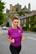 """16 June 2021; The Vhi Virtual Women's Mini Marathon is now open for entries! This year's event, launched by Una Healy at the Rock of Cashel, will take place virtually on Sunday 19th September. The musician and broadcaster is calling on women all around the country to join her and take part in the 2021 Vhi Virtual Women's Mini Marathon and says, """"I am delighted to be involved with the 2021 Vhi Virtual Women's Mini Marathon. It's great that this special virtual race has been created as this event is such an important one for women all across Ireland. While it's disappointing we can't run together, we can still build a community together and help raise much needed funds for so many charities by doing it virtually. I can't wait to get started! As part of the 2021 event a brand-new Official Event App has been developed to support those looking to walk, jog and run the 10km route anywhere in the country. Register now at www.vhiwomensminimarathon.ie. Photo by Diarmuid Greene/Sportsfile"""