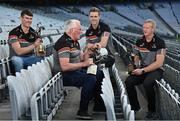 15 June 2021; In attendance at the launch of PwC's celebration of the 50th anniversary of the All-Stars at Croke Park in Dublin, are, from left, Waterford Hurler Tadgh de Búrca, former Kerry Footballer Pat Spillane, former Dublin Footballer Paul Mannion and former Kilkenny Hurler Henry Shefflin. Ireland's most prestigious sports awards were first presented in 1971. Photo by Sam Barnes/Sportsfile