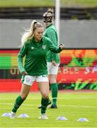 15 June 2021; Aoife Colvill of Republic of Ireland warms up before the international friendly match between Iceland and Republic of Ireland at Laugardalsvollur in Reykjavik, Iceland. Photo by Eythor Arnason/Sportsfile