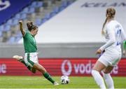 15 June 2021; Katie McCabe of Republic of Ireland during the international friendly match between Iceland and Republic of Ireland at Laugardalsvollur in Reykjavik, Iceland. Photo by Eythor Arnason/Sportsfile