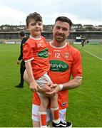 13 June 2021; Aidan Forker of Armagh following the Allianz Football League Division 1 Relegation play-off match between Armagh and Roscommon at Athletic Grounds in Armagh. Photo by Ramsey Cardy/Sportsfile