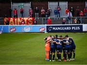 18 June 2021; St Patrick's Athletic players huddle before the SSE Airtricity League Premier Division match between St Patrick's Athletic and Sligo Rovers at Richmond Park in Dublin. Photo by Harry Murphy/Sportsfile