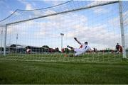 18 June 2021; Georgie Poynton of Shelbourne shoots to score his side's first goal from a penalty during the SSE Airtricity League First Division match between Wexford and Shelbourne at Ferrycarrig Park in Wexford. Photo by Michael P Ryan/Sportsfile