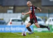 18 June 2021; Georgie Kelly of Bohemians scores his side's fourth goal, and his hat-trick, during the SSE Airtricity League Premier Division match between Bohemians and Drogheda United at Dalymount Park in Dublin. Photo by Piaras Ó Mídheach/Sportsfile