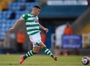 18 June 2021; Aaron Greene of Shamrock Rovers shoots to score his side's fourth goal during the SSE Airtricity League Premier Division match between Waterford and Shamrock Rovers at the RSC in Waterford. Photo by Seb Daly/Sportsfile
