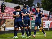 18 June 2021; Ronan Coughlan of St Patrick's Athletic, 10, celebrates after scoring his side's second goal with teammates during the SSE Airtricity League Premier Division match between St Patrick's Athletic and Sligo Rovers at Richmond Park in Dublin. Photo by Harry Murphy/Sportsfile