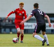 18 June 2021; Shane Farrell of Shelbourne in action against Jack Larkin of Wexford during the SSE Airtricity League First Division match between Wexford and Shelbourne at Ferrycarrig Park in Wexford. Photo by Michael P Ryan/Sportsfile