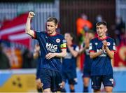 18 June 2021; Ian Bermingham of St Patrick's Athletic shows his appreciation to supporters after the SSE Airtricity League Premier Division match between St Patrick's Athletic and Sligo Rovers at Richmond Park in Dublin. Photo by Harry Murphy/Sportsfile