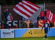 18 June 2021; Supporters during the SSE Airtricity League Premier Division match between St Patrick's Athletic and Sligo Rovers at Richmond Park in Dublin. Photo by Harry Murphy/Sportsfile