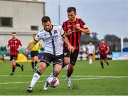 18 June 2021; Patrick Hoban of Dundalk in action against Karl Chambers of Longford Town during the SSE Airtricity League Premier Division match between Dundalk and Longford Town at Oriel Park in Dundalk, Louth. Photo by Eóin Noonan/Sportsfile